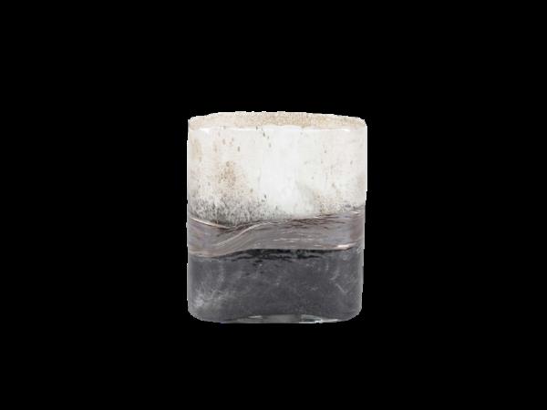 Bruin-zwarte-handegemaakte-smalle-rechthoek-vaas-1