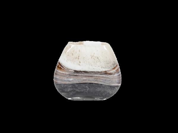 Bruin-zwarte-handgemaakte-smalle-ronde-vaas-1