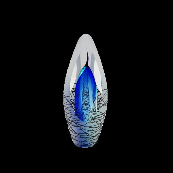 Urn modern cobalt blauw