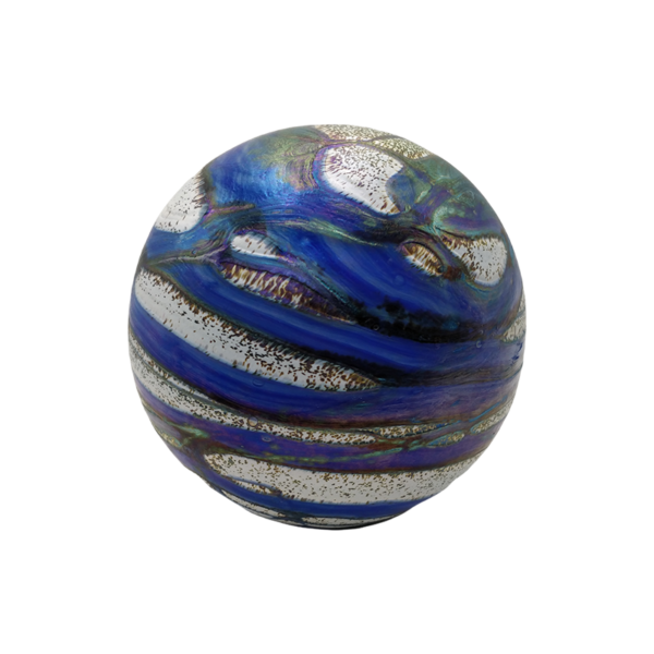 Urn rond 1,5 liter inhoud kobalt blauw