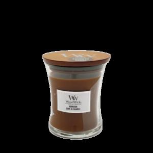 Woodwick-medium-kaars-humidor-bruin
