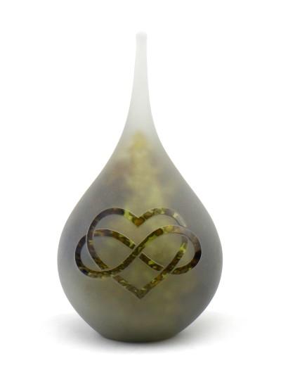 Urn druppel M Opaque natuur met hart