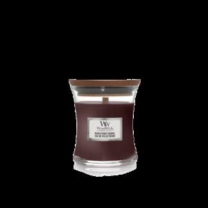 woodwick mini black plum cognac