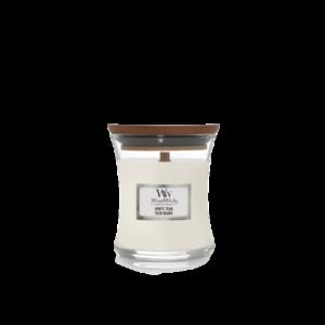 WoodWick mini white teak